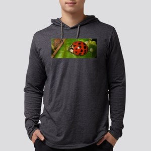 Ladybug on Leaf Mens Hooded Shirt
